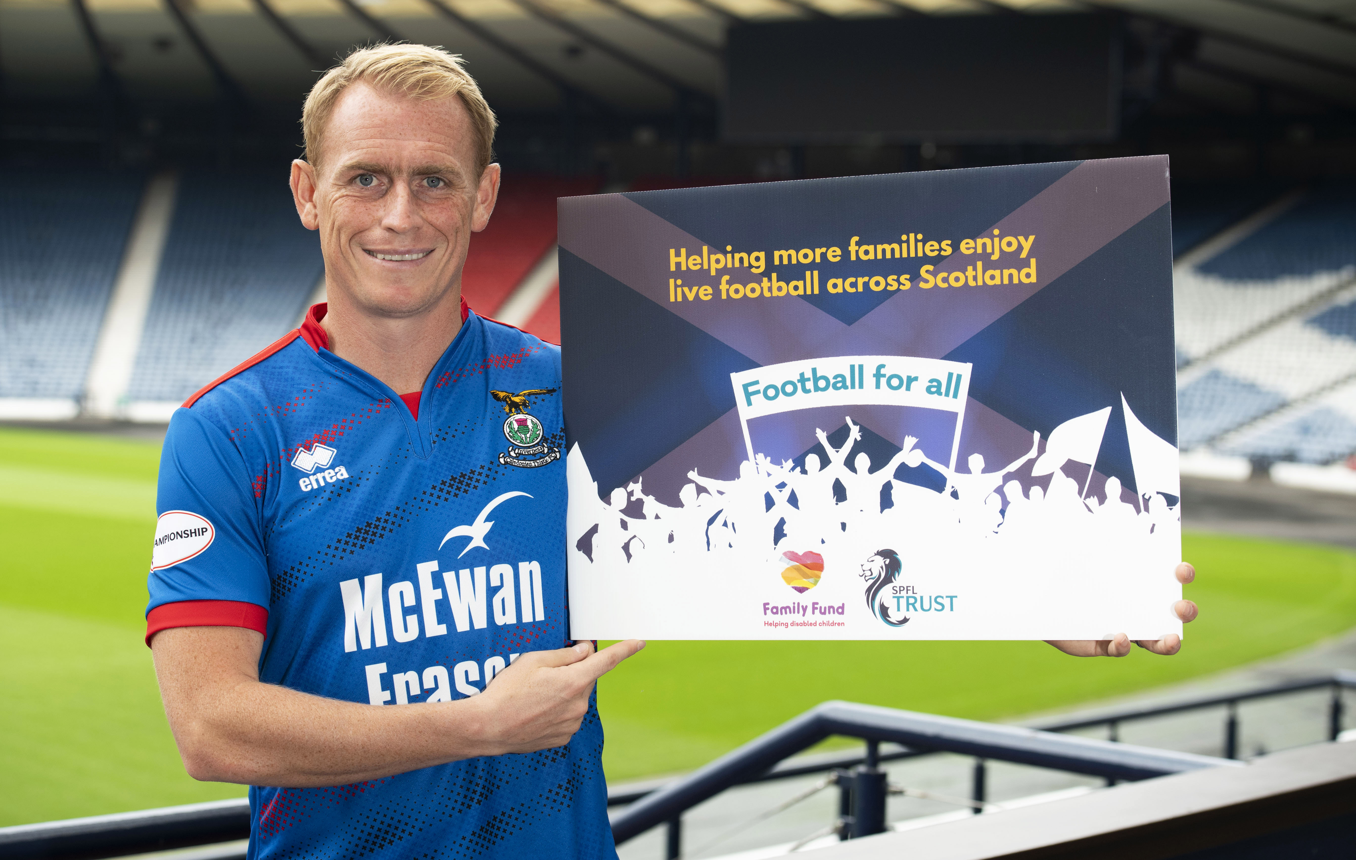 29/07/19 HAMPDEN PARK - GLASGOW Inverness CT's Carl Tremarco at Hampden Park for the 2019/2020 Ladbrokes Championship Captains Photocall.