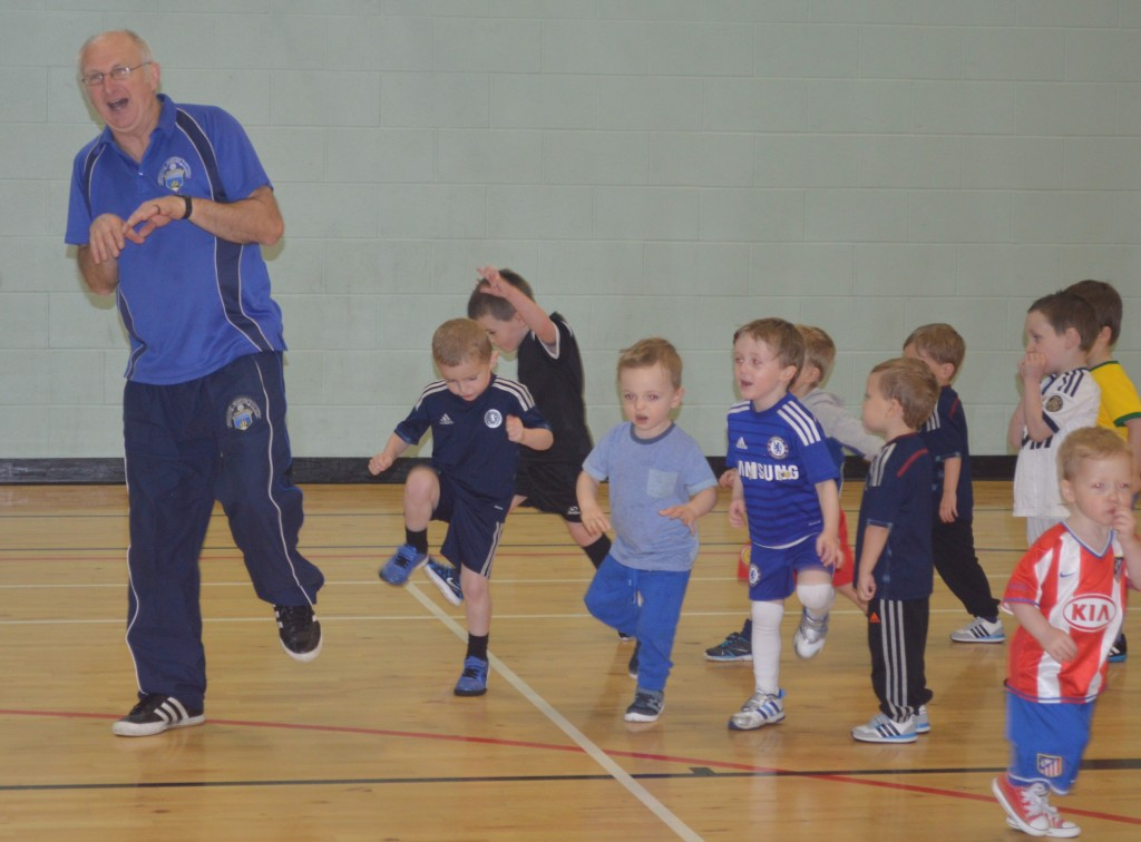 Community coach Paddy McAlees is a local hero.