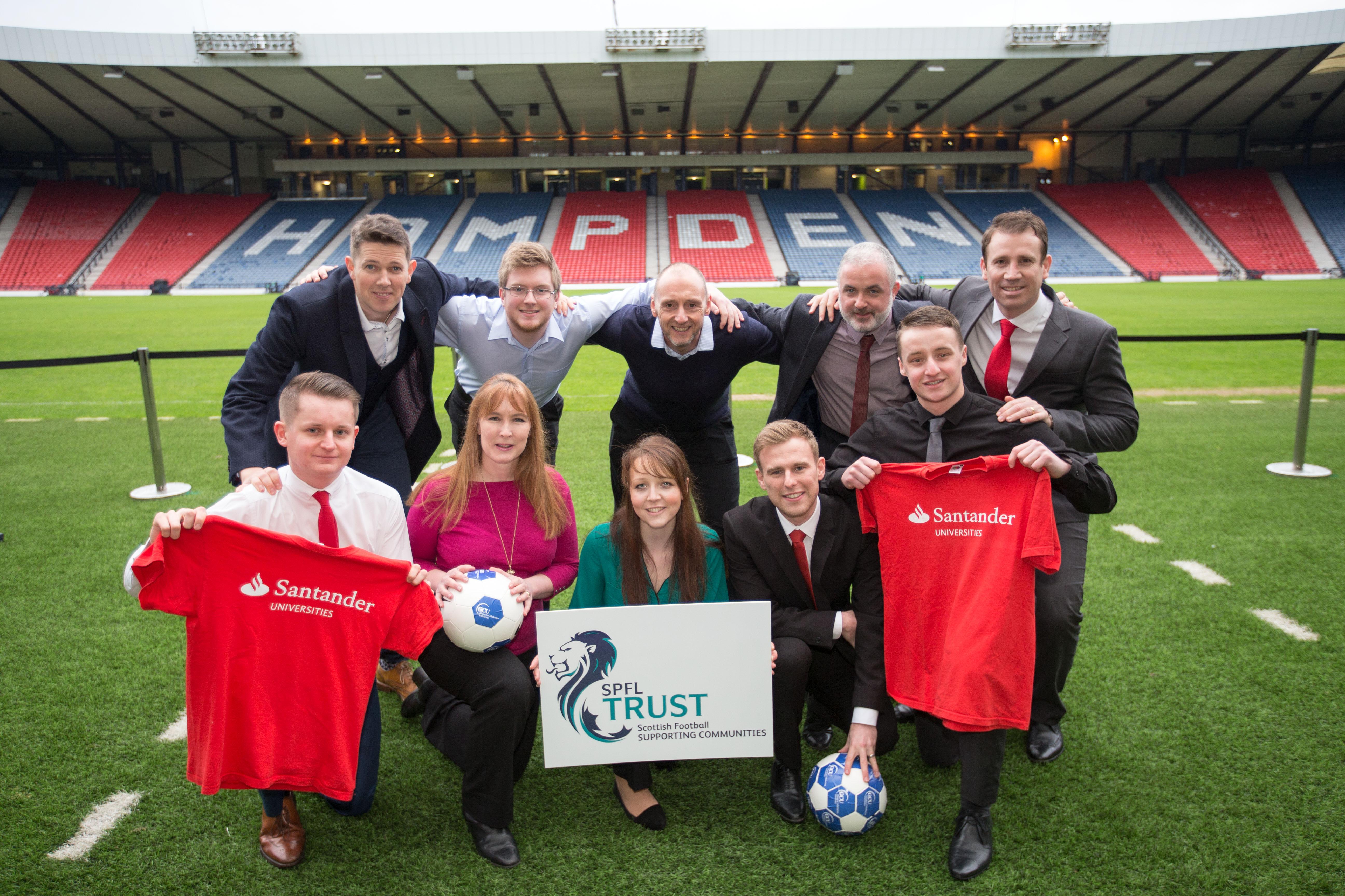 GCU Santander and SPFL Trust Pic Peter Devlin
