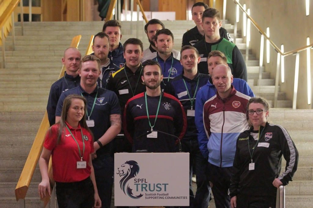 Coaches from the SPFL's community trusts were in attendance.