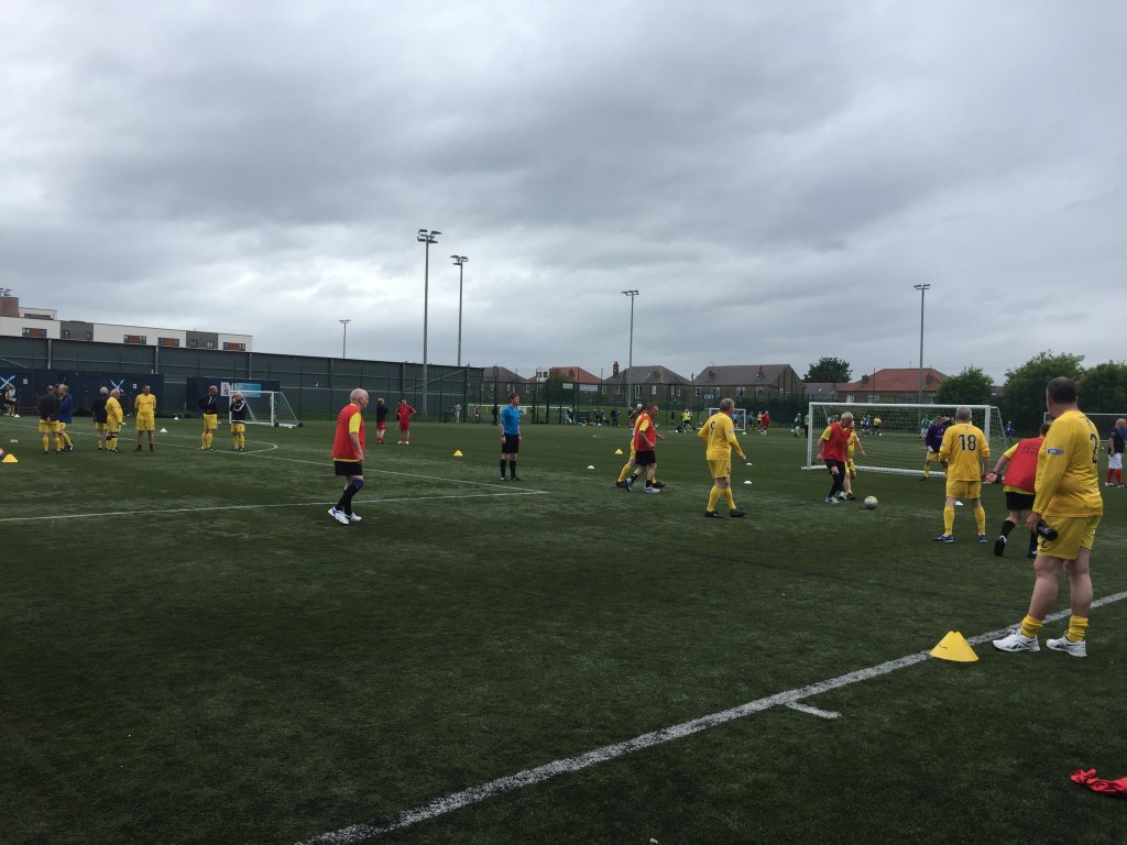 Weekly walking football is a must on the calendar for Ayr's FFIT participants.